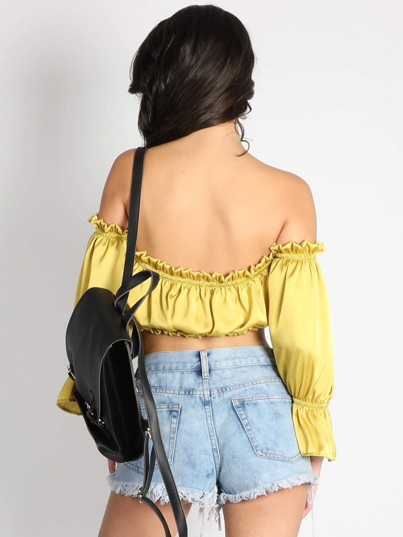 Double Frilled Gathered Top