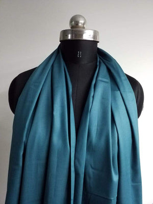 Turkish Blue Plain Dyed Cotton Satin Fabric