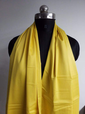 Yellow Plain Dyed Cotton Satin Fabric - Zooomberg