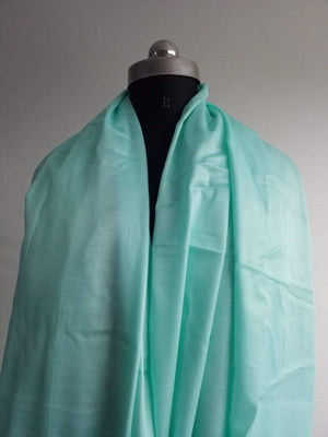 Turquoise Blue Plain Dyed Linen Satin Fabric - Zooomberg