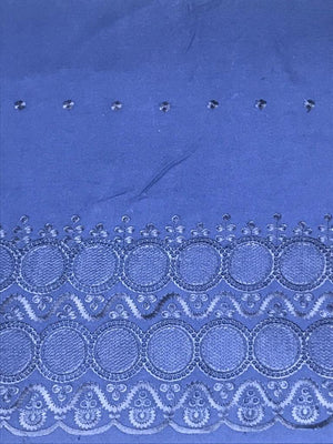 Blue Palazzo One Side Border Embroidery with all over Buti Embroidery