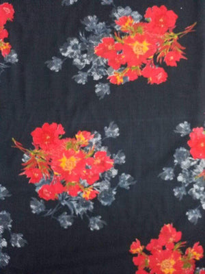 Floral Pattern Printed Rayon Fabric
