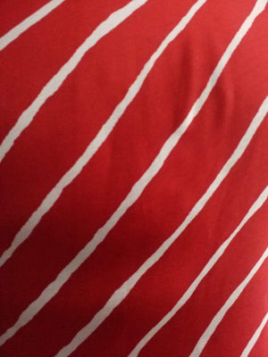 Stripe Printed Satin Georgette Fabric - Zooomberg