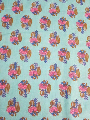 Floral Printed Cotton Cambric Fabric