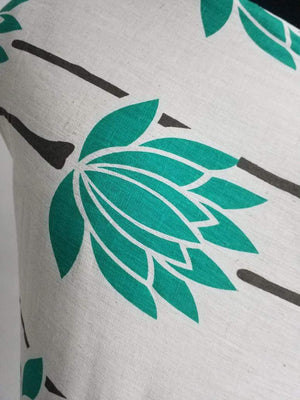 Green Floral Cotton Flex Printed Fabric