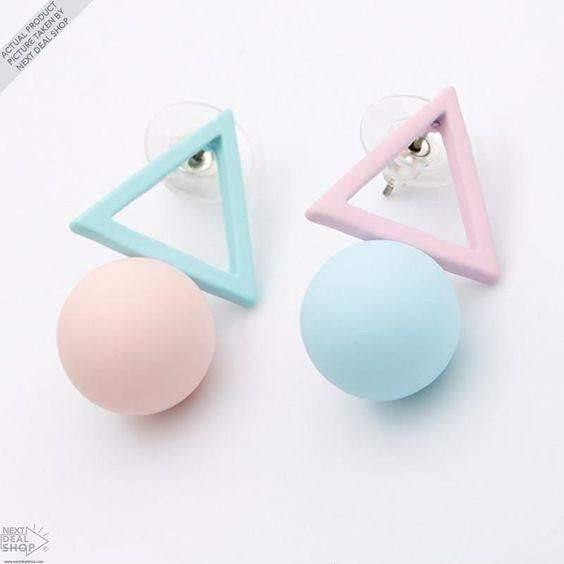 Triangle  Candy Color Stud Earrings