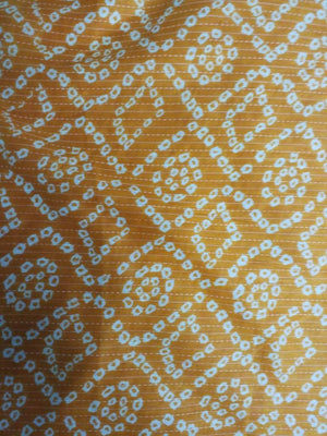 Stitched and Bandhani Printed Cotton Fabric