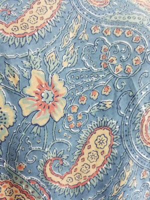 Cotton Cambric Paisley Screen Printed Fabric