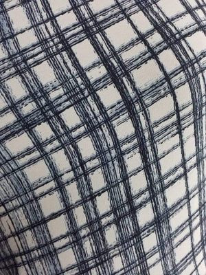 Checkered Printed Georgette Fabric - Zooomberg
