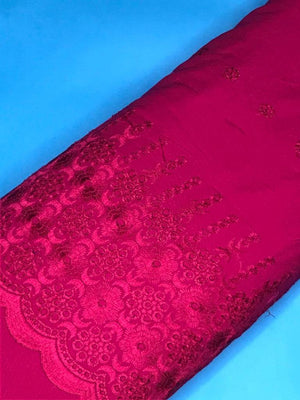 Pink Palazzo One Side Border Embroidery with all over Buti Embroidery