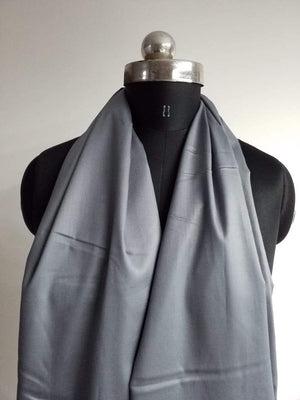 Dark Grey Plain Dyed Cotton Satin Fabric