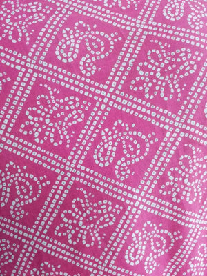 Cotton Cambric Bandhani Printed Fabric - Zooomberg