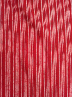 Stripe Printed Viscose Muslin Fabric
