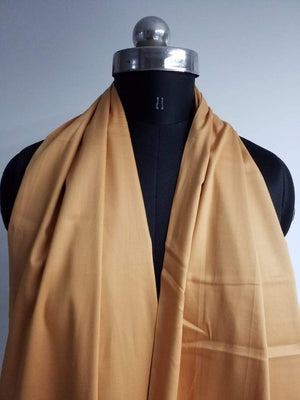 Light Brown Plain Dyed Cotton Satin Fabric - Zooomberg