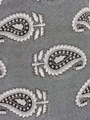 Paisley Printed Georgette Fabric - Zooomberg