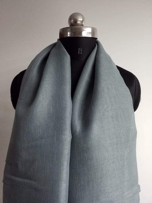 Iron Grey Plain Dyed Linen Textured Fabric - Zooomberg