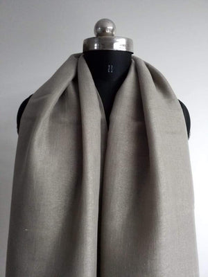 Grey Plain Dyed Linen Textured Fabric