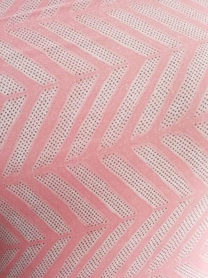 Pastel Zig Zag Stripe Printed Georgette Fabric
