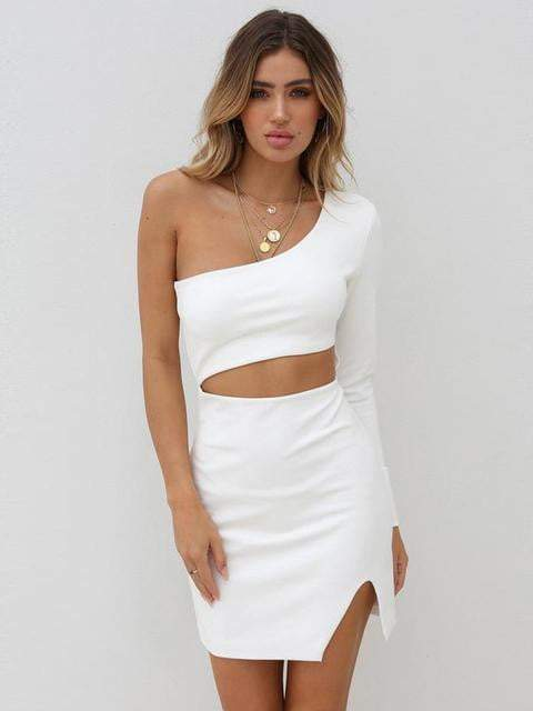 One Shoulder Bodycon Bandage Celebrity Evening Party Dress - Dresses - Zooomberg - Zoomberg