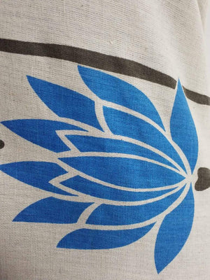 Blue Floral Cotton Flex Printed Fabric - Zooomberg
