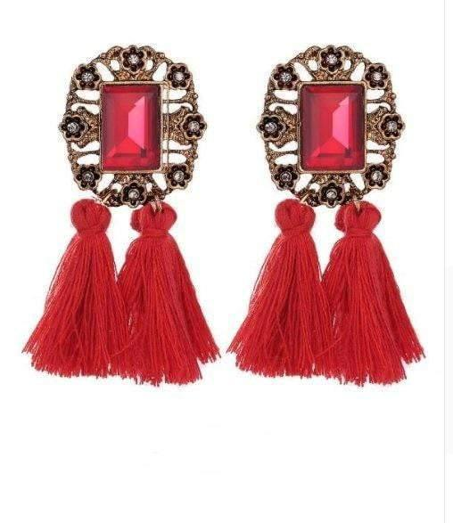Vintage Crystal Tassel Dangle Earring - Earrings - Zooomberg - Zoomberg