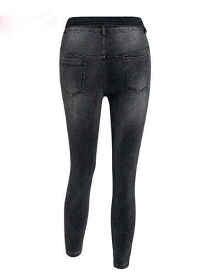 High Waist Casual Denim - Pants - Zooomberg - Zoomberg