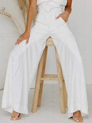 Wide Flare High Waist Casual Pants - Pants - Zooomberg - Zoomberg