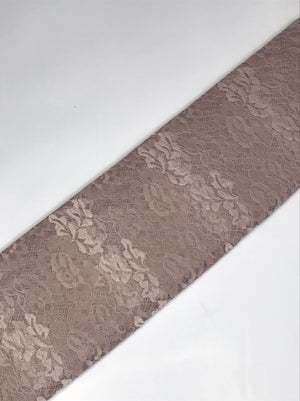 Imported Nude Floral Lace Fabric (Width - 58 Inches)