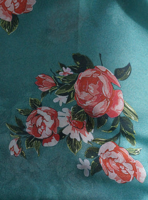 Satin Georgette Digital Floral Printed Fabric - Zooomberg