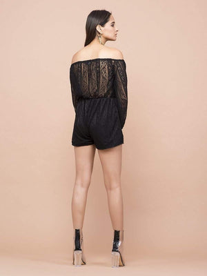 Lace Cutout Romper - Jumpsuits - Zooomberg - Zoomberg
