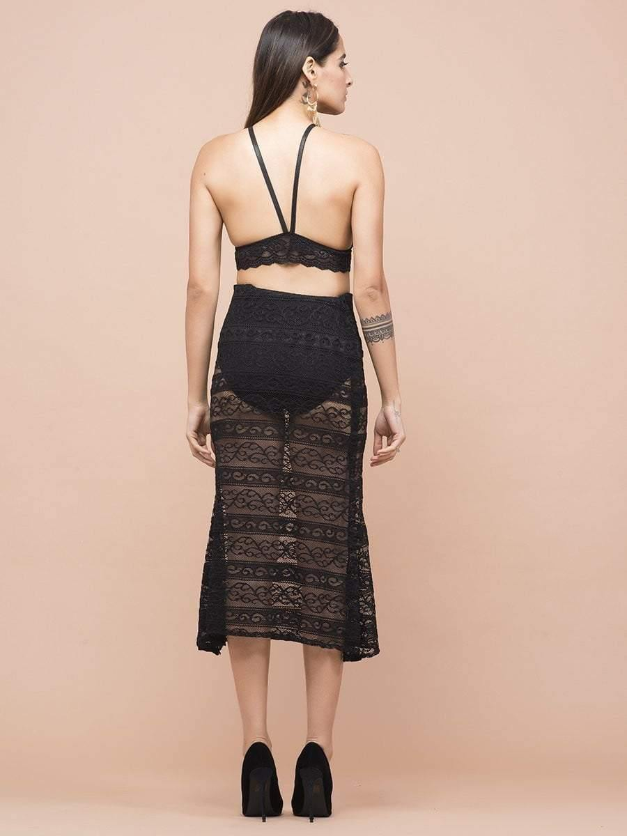Sheer Lace Skirt - zooomberg