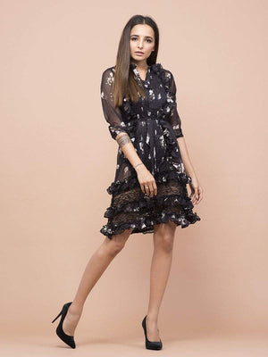 Daphne Floral Print Dress - Dresses - Zooomberg - Zoomberg