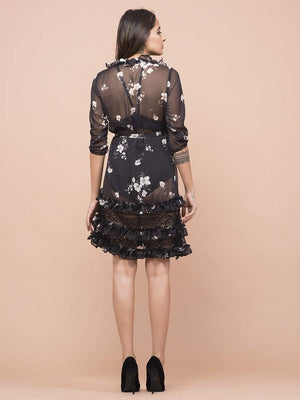 Get Daphne Floral Print Dress with RS. 2370.00