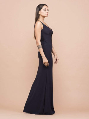 Get Classic Sweetheart Neck Center Cutout Gown with RS. 1470.00