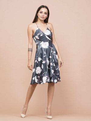 Magnolia Floral Print Wrap Dress