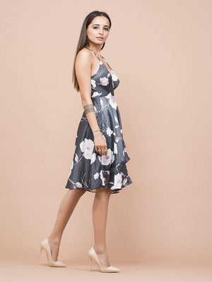 Get Magnolia Floral Print Wrap Dress with RS. 1890.00
