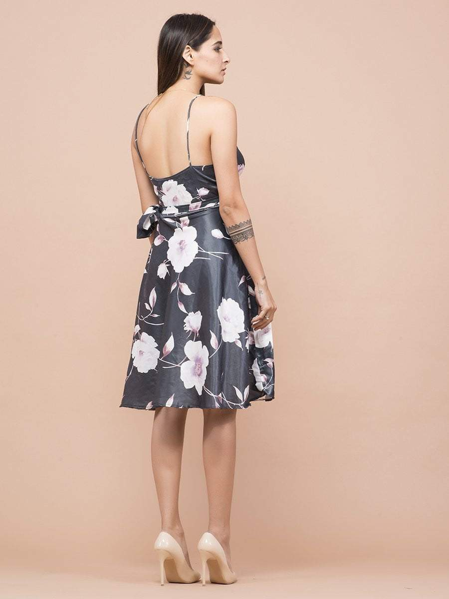 Magnolia Floral Print Wrap Dress - Dresses - Zooomberg - Zoomberg