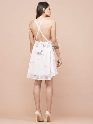 Blossom Plunging Neckline Dress - Dresses - Zooomberg - Zoomberg