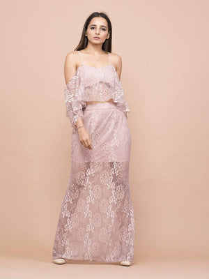 Get Vintage Rose Pink Co-Ord with RS. 996.00