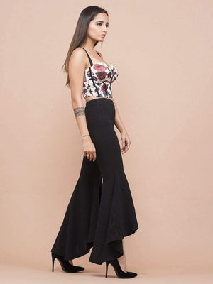 Get Rose Print Corset Crop Top with RS. 1194.00