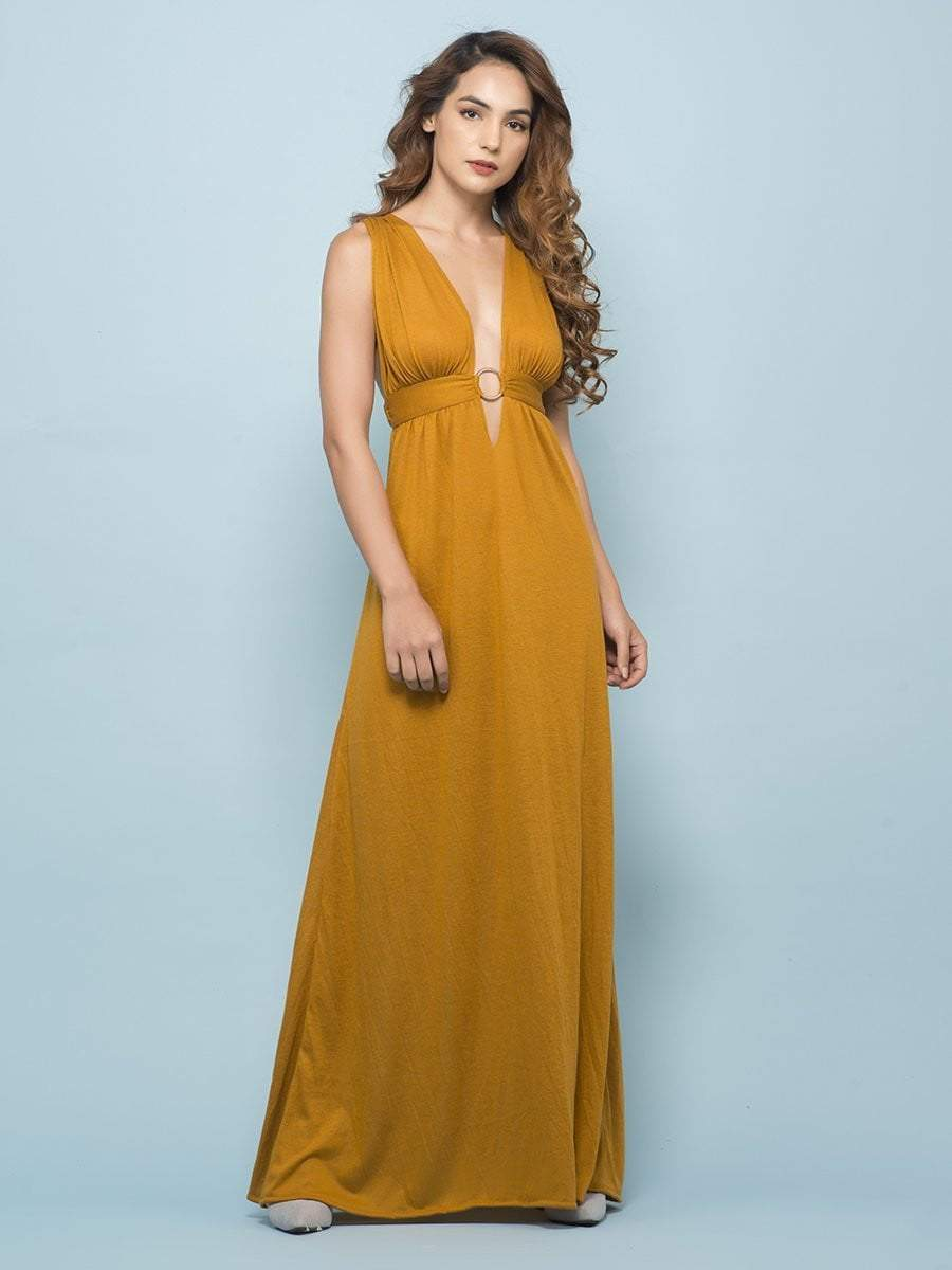 Marigold Buckle Maxi Dress