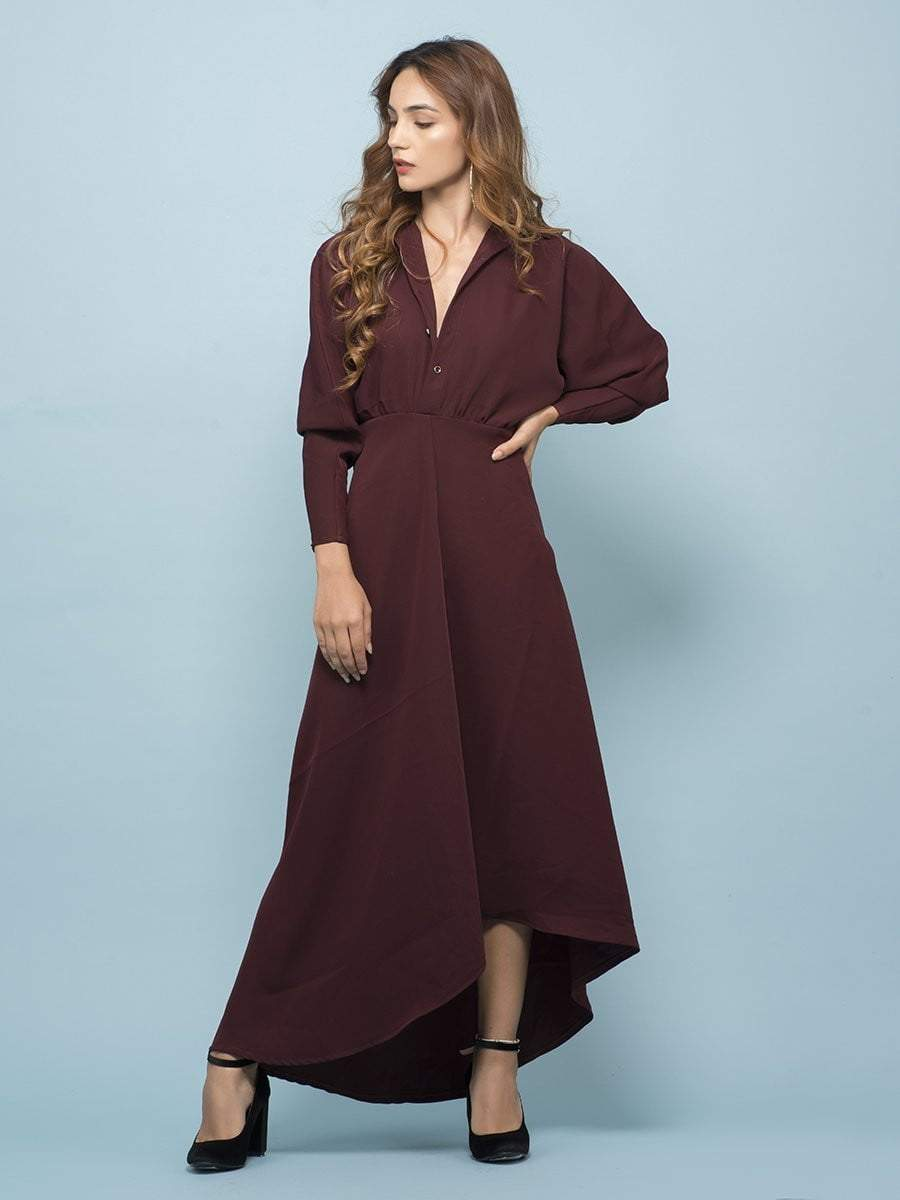 Mahogany Poet Sleeves Maxi Dress - zooomberg