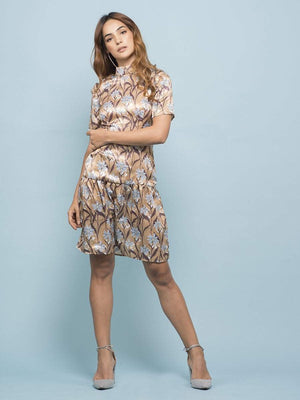 Daisy Printed CrissCross Dress