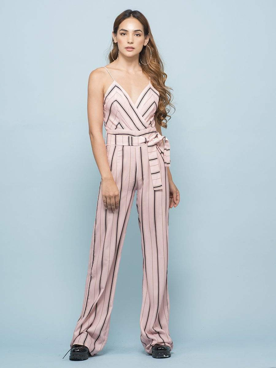 5fc8e294a49 Blush Pink Pencil Striped Jumpsuit