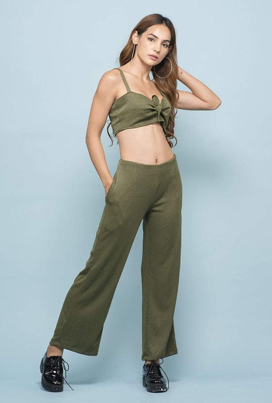 Get Army Green Shimmer Co-ord with RS. 1890.00