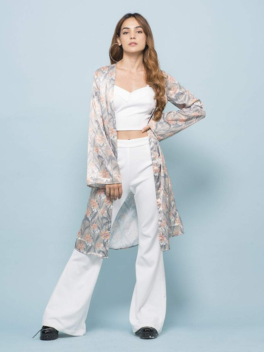 Daisy Floral Long-line Cardigan - zooomberg