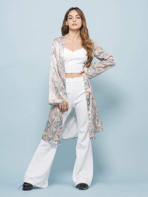 Daisy Floral Long-line Cardigan - Cardigans - Zooomberg - Zoomberg