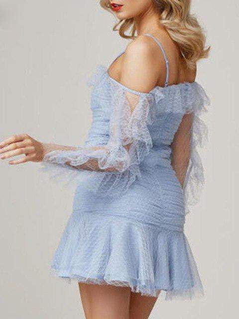 Ruffle Mesh Vintage Dress