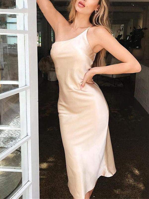 Satin Bodycon Women Dress