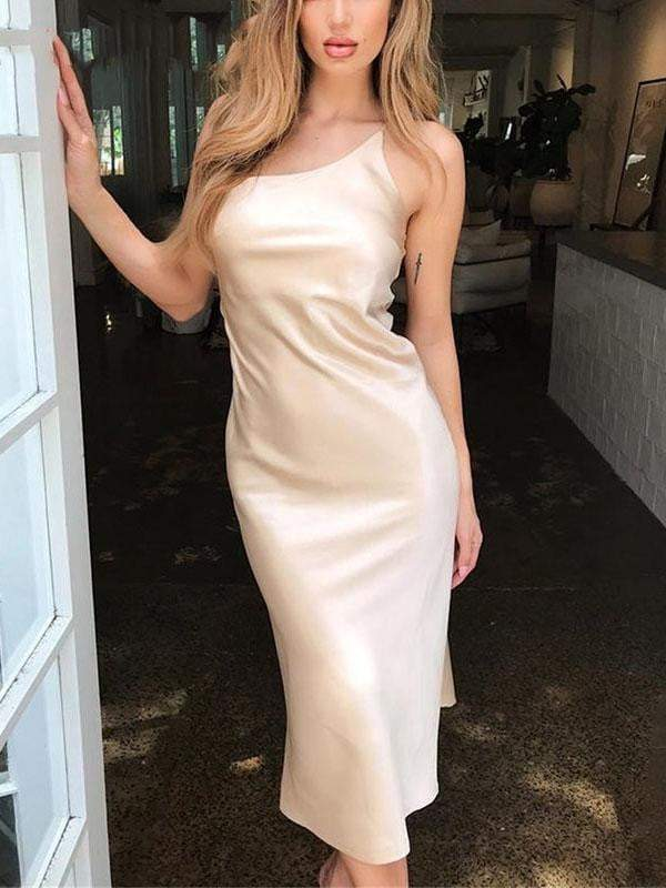 Satin Bodycon Women Dress - zooomberg